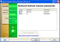 Atomic Outlook Express Password Recovery pour mac