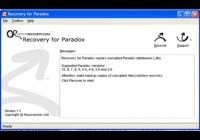 Recovery for Paradox pour mac