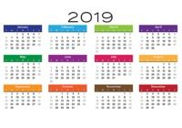 Calendrier 2019 simple pour mac