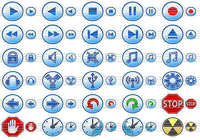 Multimedia Toolbar Icons pour mac