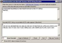 Barcode Scanner ASCII String Decoder pour mac