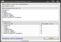 Keyword Ranking Tool pour mac