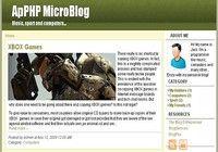 ApPHP MicroBlog - web blog PHP script pour mac