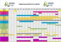 Calendrier des JO de Rio 2016  pour mac