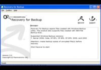 Recovery for Backup pour mac