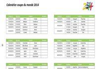 dates et horaires des matchs de la coupe du monde 2014 pour mac