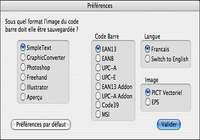 Code Barre X pour mac