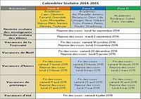 Calendrier Vacances Scolaires 2014-2015 pour mac