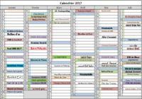 Calendrier des évènements 2017 pour mac