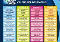 Calendrier complet de la coupe du monde de rugby 2015 pour mac