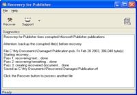 Recovery for Publisher pour mac