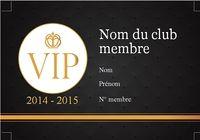 Carte de membre VIP pour mac