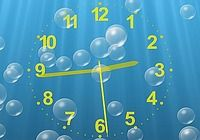 Underwater Clock Bubbles Screensaver pour mac