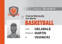 Carte de membre Basket pour mac