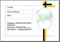 Carte visite Mondialisation 2 pour mac