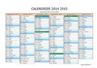 Calendrier 2014/2015 pour mac