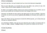 Modèle de lettre séparation-divorce pour mac