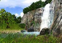 3D Waterfall Screensaver pour mac