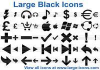 Large Black Icons pour mac