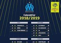 Calendrier OM Ligue 1 2018-2019  pour mac