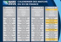 Calendrier du XV de France pour la coupe du monde 2015 pour mac