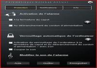 Notebak Alarme pour mac