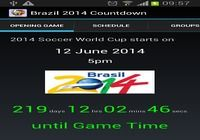 Brazil 2014 Countdown Android pour mac