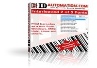 IDAutomation Interleaved 2 of 5 Font pour mac