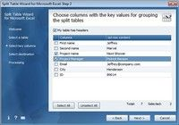 Split Table Wizard for Microsoft Excel pour mac