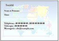 Carte visite Mondialisation pour mac