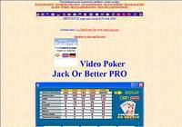 Video poker jack or better pro