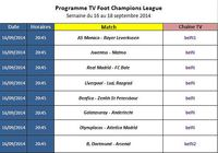 Programme TV Foot Champions League pour mac