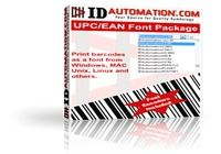 IDAutomation UPC EAN Barcode Fonts pour mac