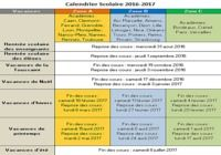 Calendrier Vacances Scolaires 2016-2017 pour mac