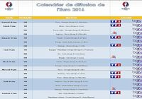 Calendrier de diffusion de l'Euro 2016 pour mac