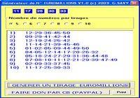 Générateur de Numéros euromillions pour mac