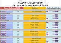 Calendrier de diffusion de la Coupe du Monde 2018 pour mac
