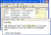 Free Email Marketing: Broadcast By Email pour mac
