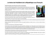 La lettre du Président de la République aux Français pour mac