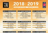 Calendrier Top 14 2018-2019 pour mac