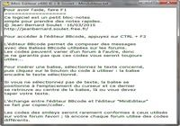 Mini-Editeur pour mac