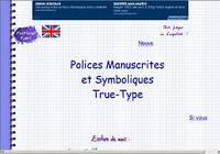 17 Polices Manuscrites True-Type pour mac