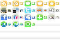 iPhone Style Social Icons pour mac