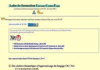 Labo de formation C# .Net pour mac