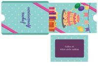 Pochette carte cadeau pour Anniversaire pour mac