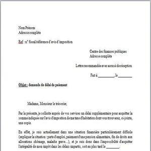 T l charger mod le lettre demande de d lai de paiement for Taxe fonciere garage prix