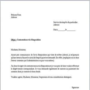 T l charger mod le de lettre contestation avis d 39 imposition gratuit gra - Compromis de vente retractation vendeur ...