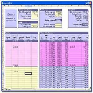 T l charger jxtamm calcul cr dit modulable gratuit - Calcul tableau amortissement excel ...