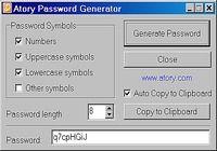 Atory Password Generator pour mac