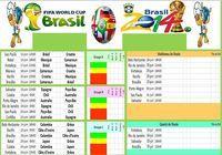 Calendrier Coupe du Monde Brésil 2014 pour mac